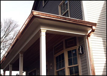 Copper & metal gutters & downspouts Worcester MA, Boston MA, NH, VT, RI, CT